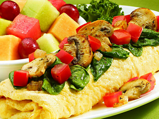 how to cook a vegetable omelet