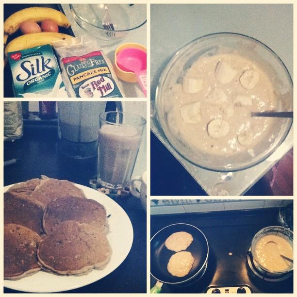 Glutten free banana pancakes