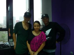 Lara Novales with Dane Ram and Cameron Lee at the MAster Dance Class at SDT Beijing