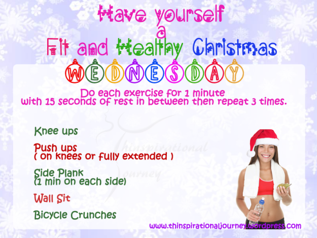 Easy Holiday Fitness Workout CHallenge wednesday by thinspirationaljourney